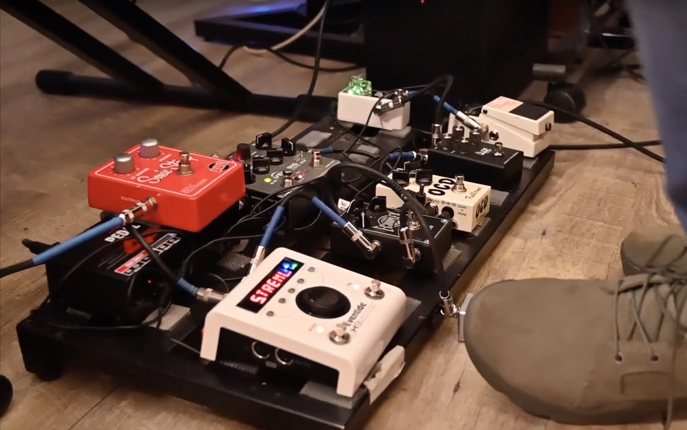 Curt Chambers Pedalboard Featuring an Eventide H9