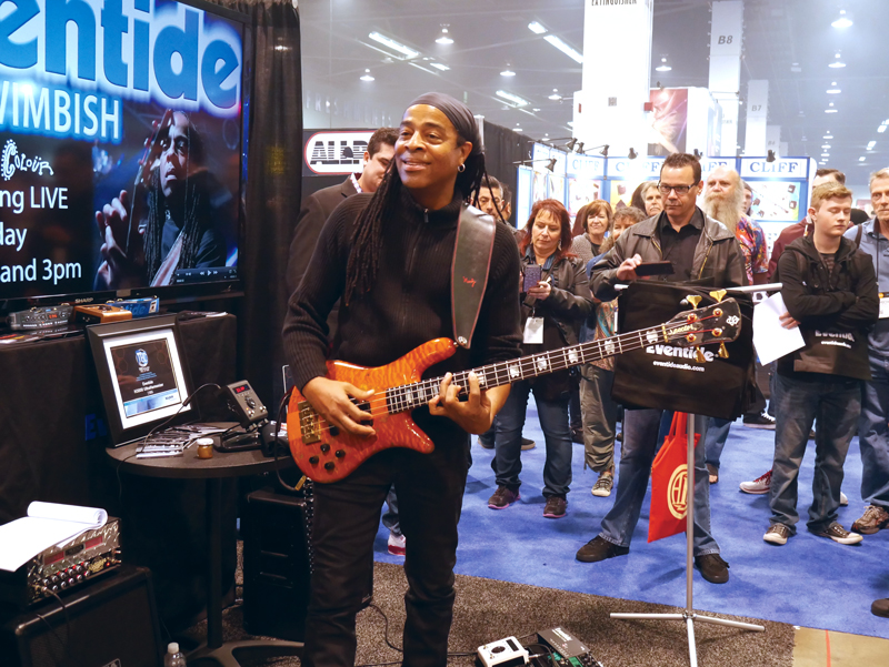 Dough-Wimbish-Eventide-Namm-Booth