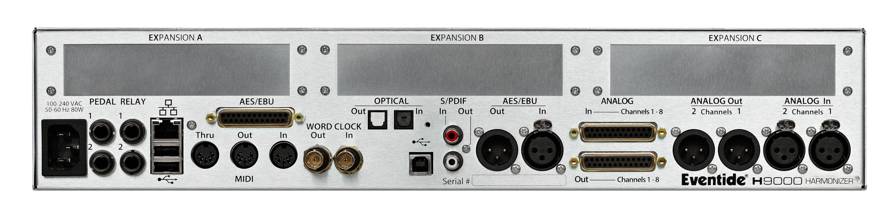 Eventide H9000 Harmonizer Rear Panel connections