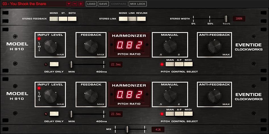 H910 Dual Harmonizer Plug-in