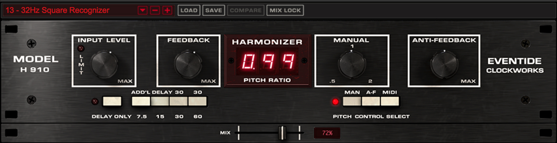 H910 Worlds first Studio FX Effects Harmonizer pluign