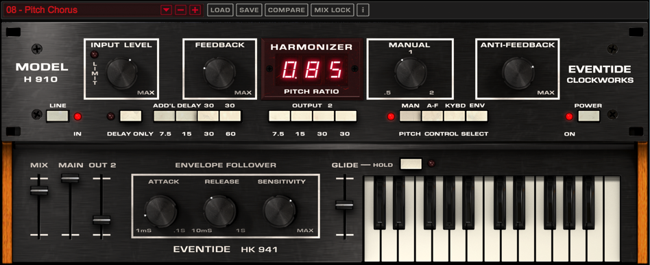 H910 Worlds first Studio FX Effects Harmonizer plug-in