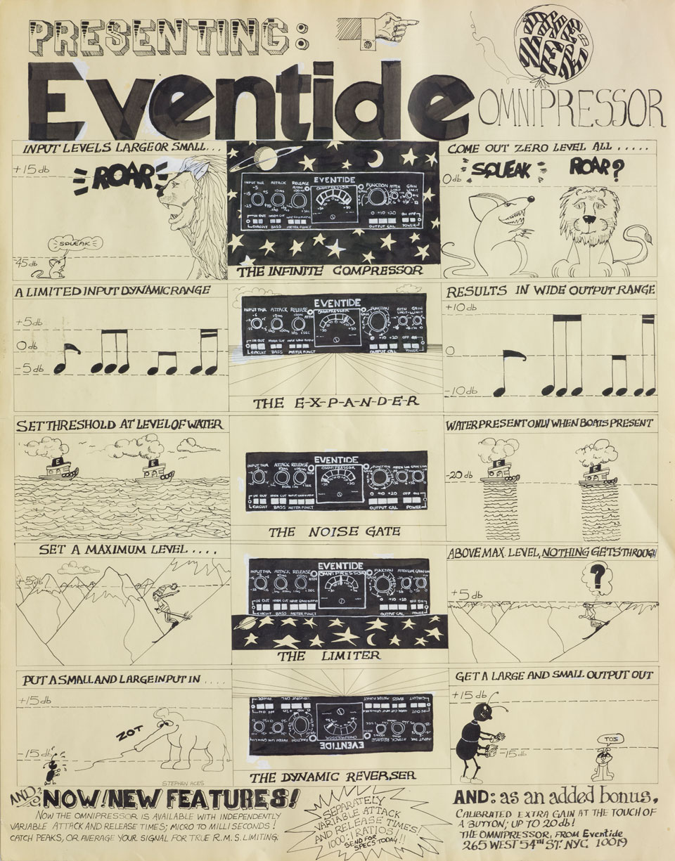 Poster created to advertise the Eventide Omnipressor