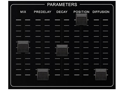 SP2016 Reverb Parameters Controls