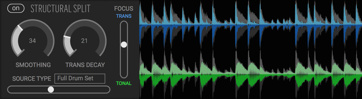 Fission Plugin Structural Split Control for Tonal and Transient