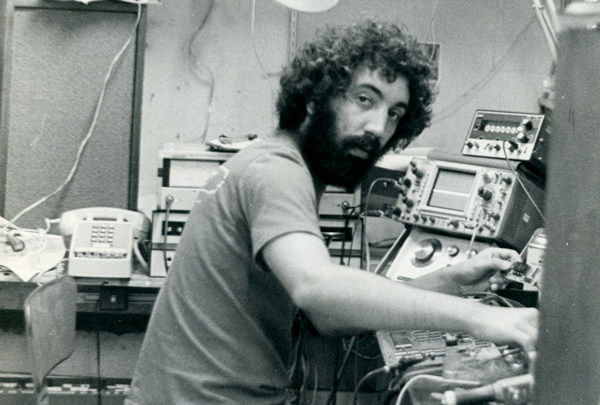 Tony Agnello working on the original H910 Harmonizer circa 1973