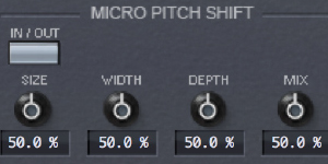 Micro Pitch Shift & Stereo Delays