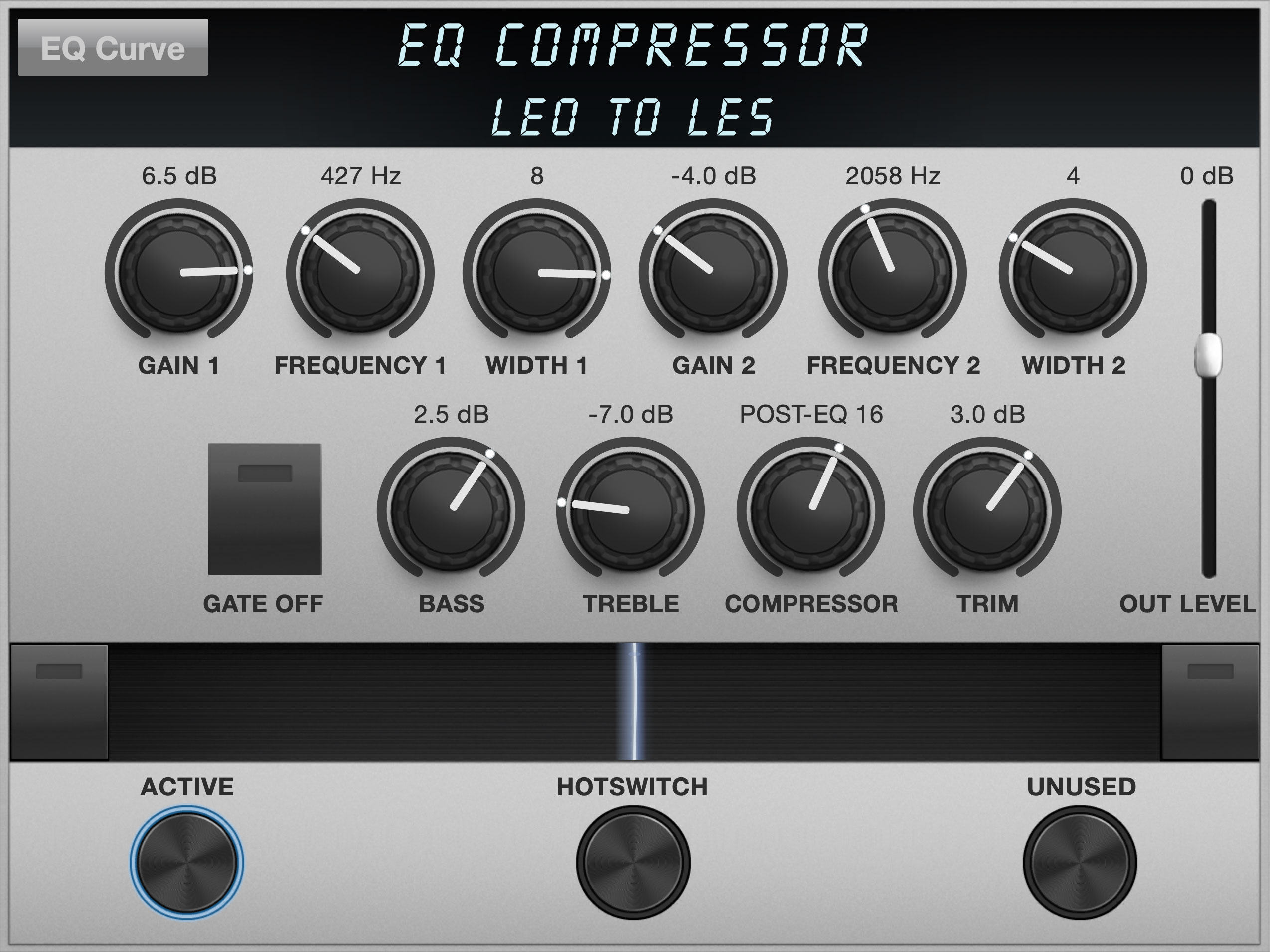 EQ Compressor Algorithm Controls