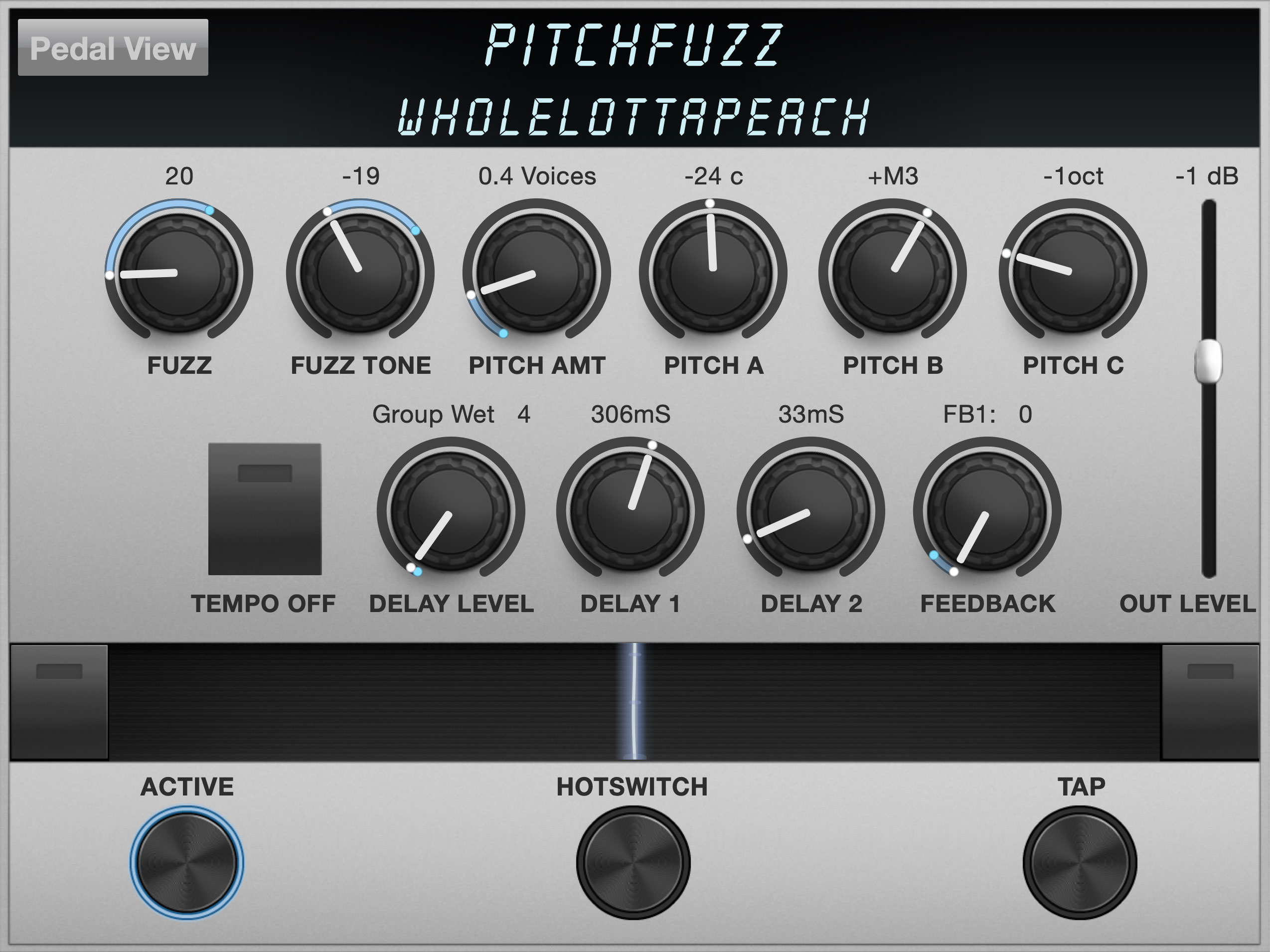 PitchFuzz Algorithm Controls