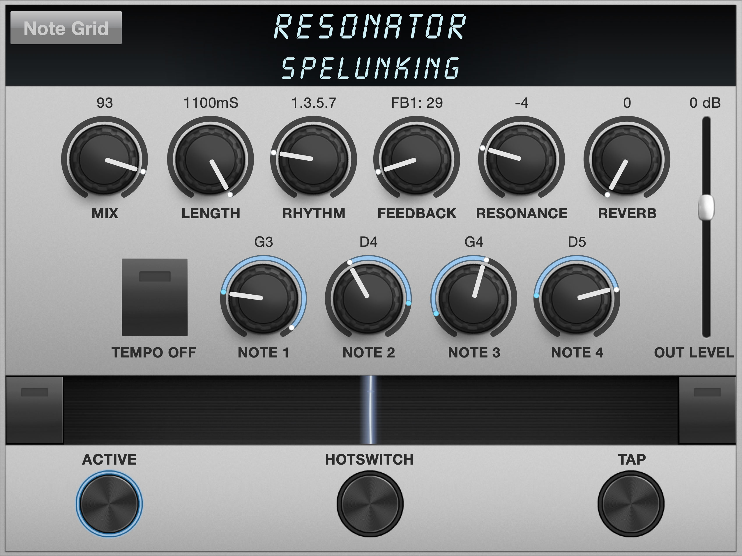 Resonator Algorithm Controls