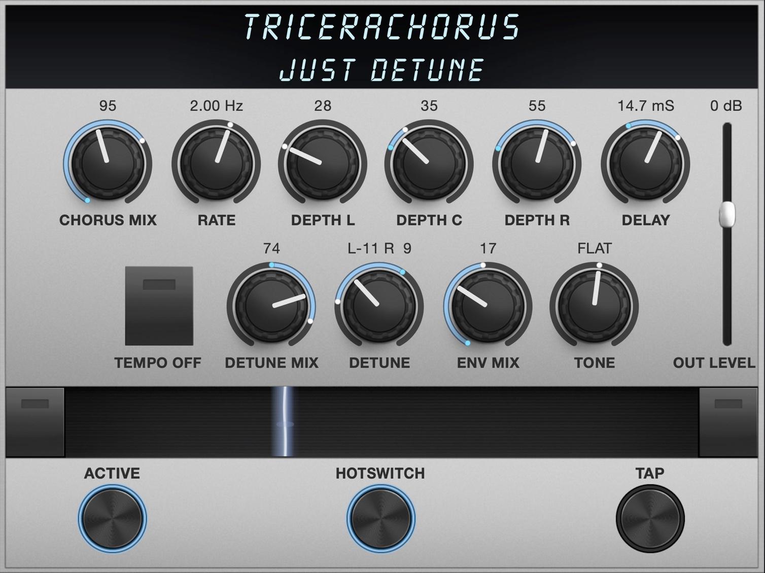 TriceraChorus Algorithm Controls