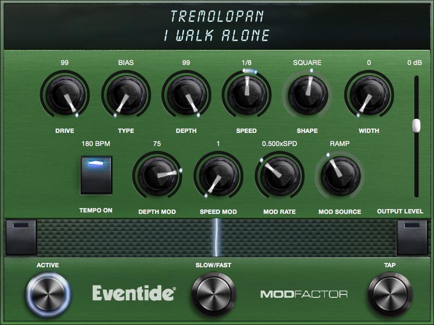 TremoloPan Algorithm Controls