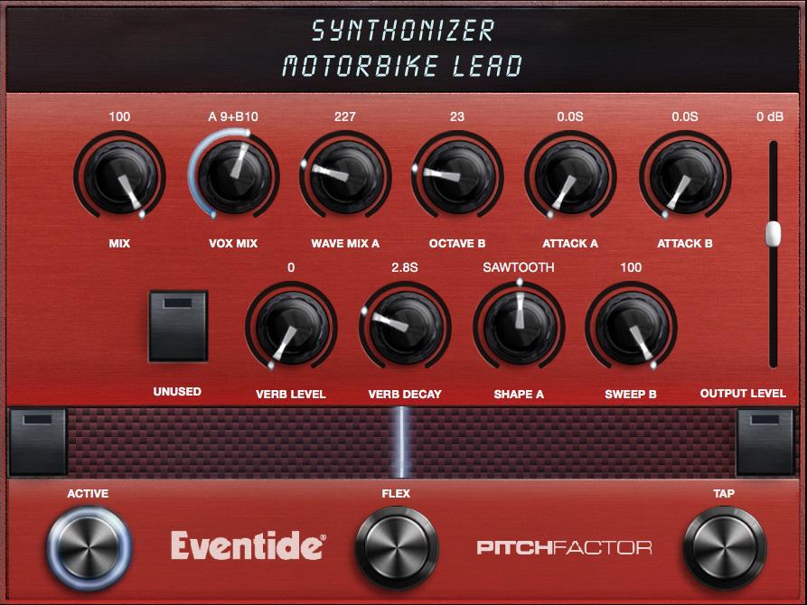Synthonizer Algorithm Controls