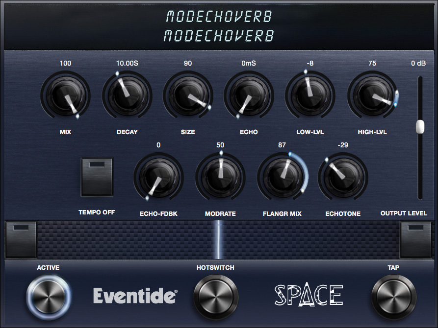 ModEchoVerb effect algorithm for Eventide H9 and Space pedals