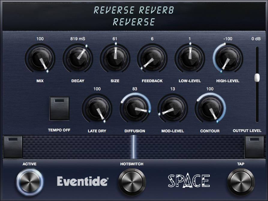 Reverse Reverb Algorithm Controls