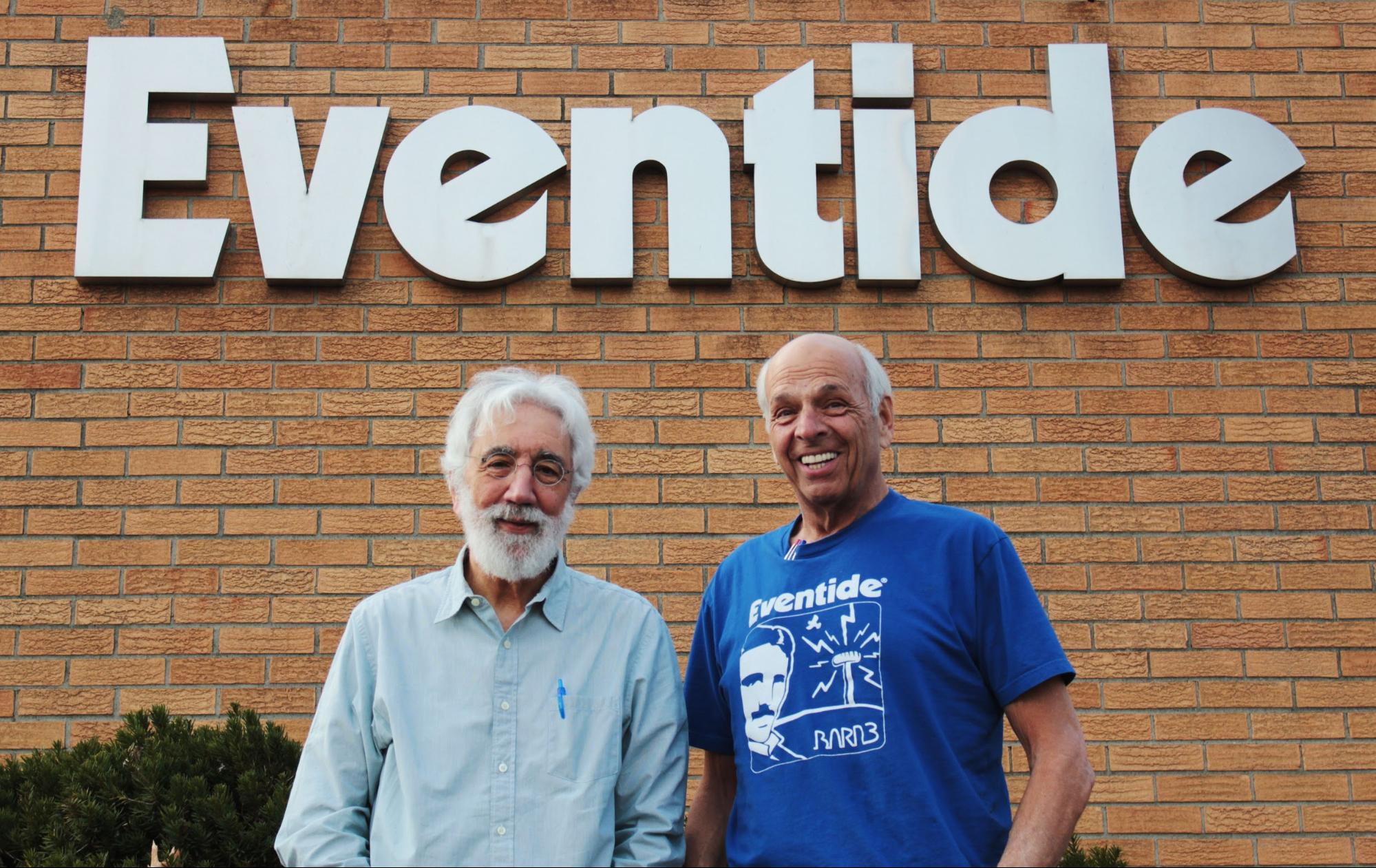 Tony Agnello (left) and Richard Factor (right) outside Eventide HQ
