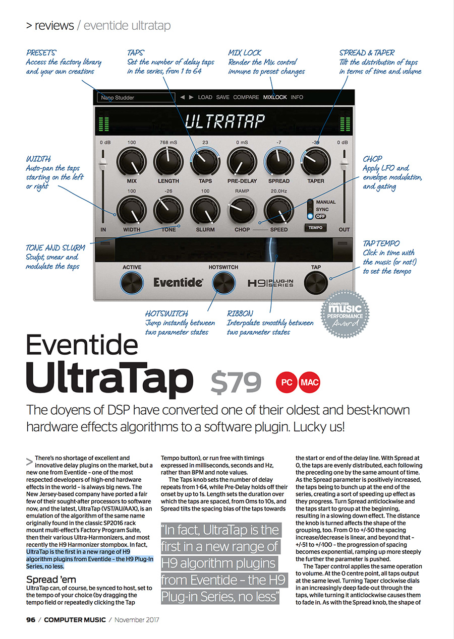 Picture of the Computer Music review of UltraTap