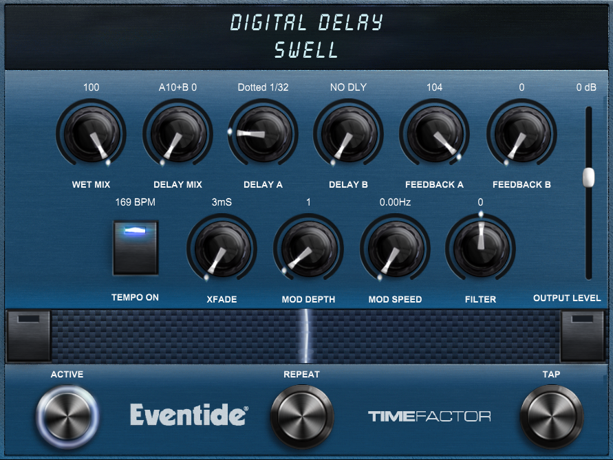 Delay Screen Shot - Swell Preset