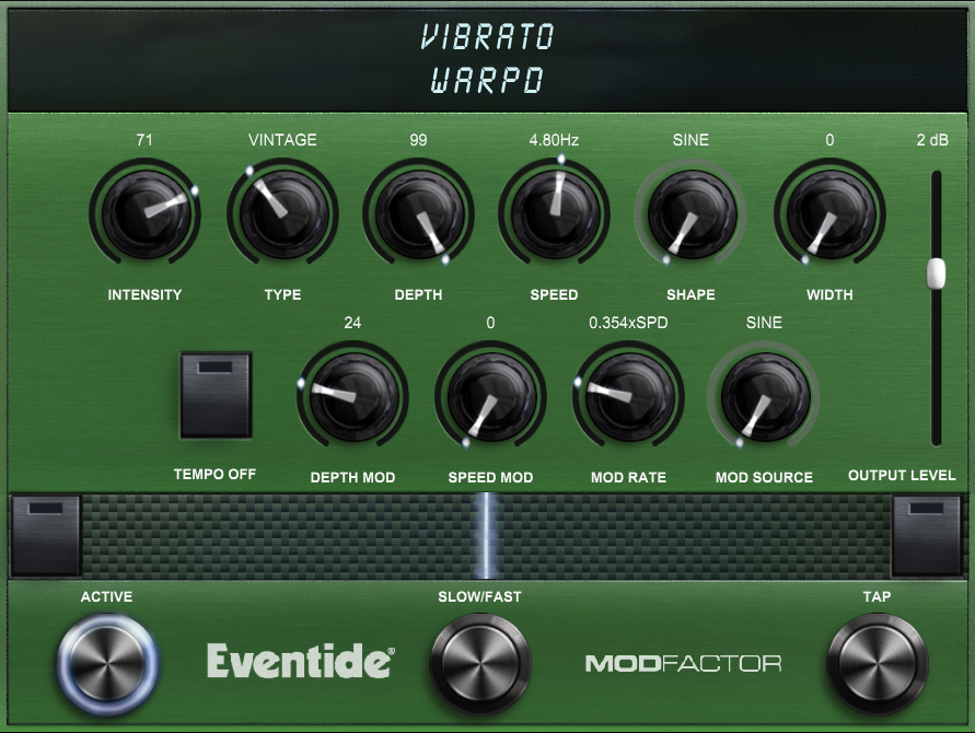 Vibrato Screen Shot - Warped Preset
