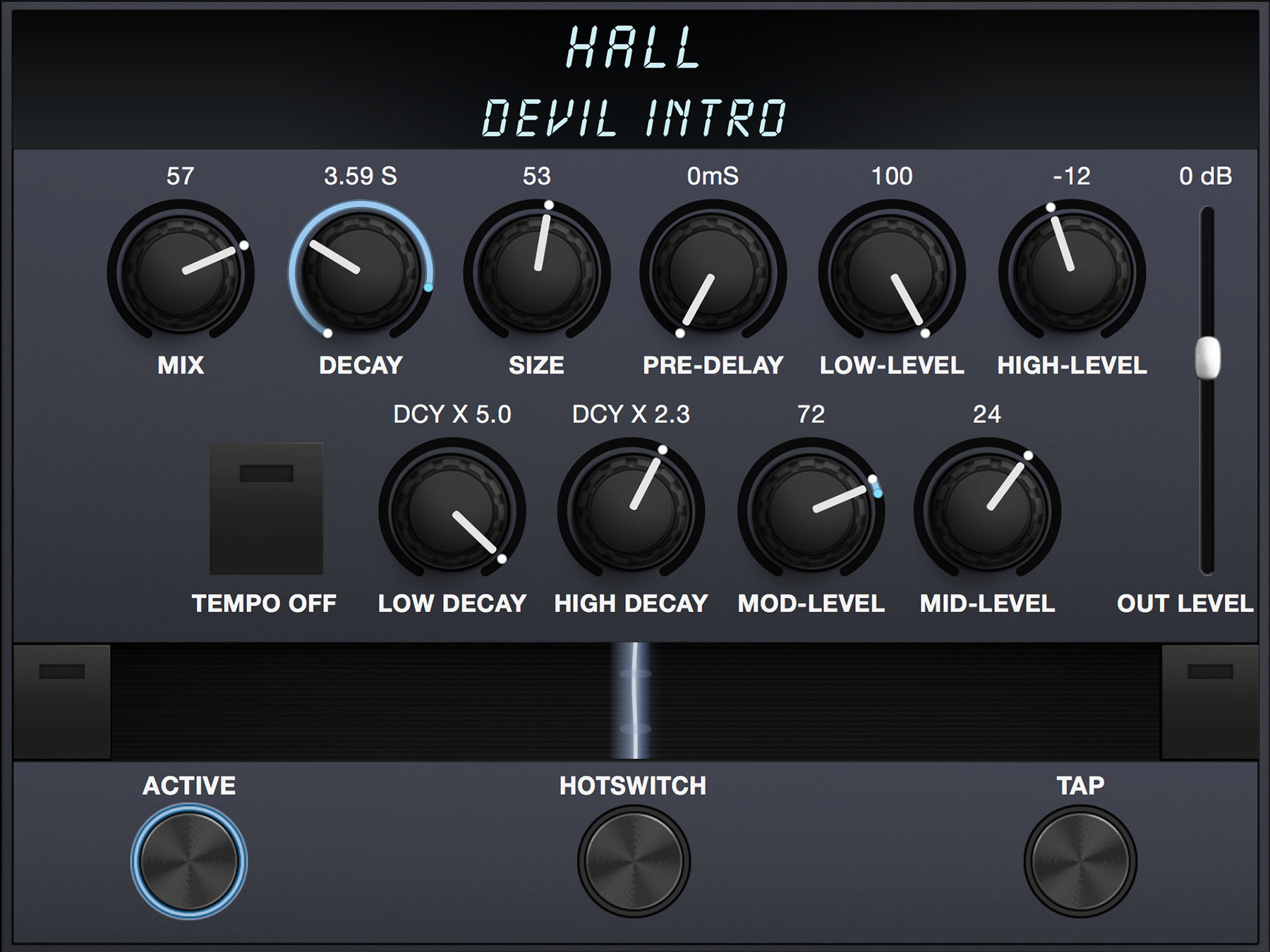 Screenshot of Hall algorithm preset Devil Intro by Derya Nagle