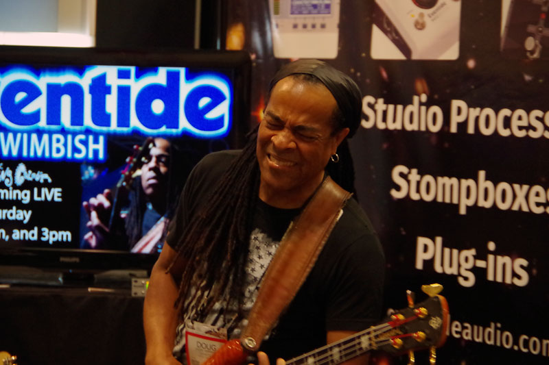Doug Wimbish of Living Colour Performs at the Eventide Booth
