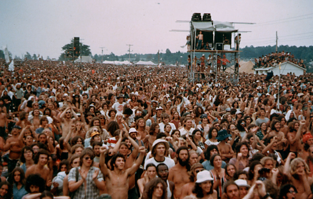 Speaker Towers at Summer Jam 1973