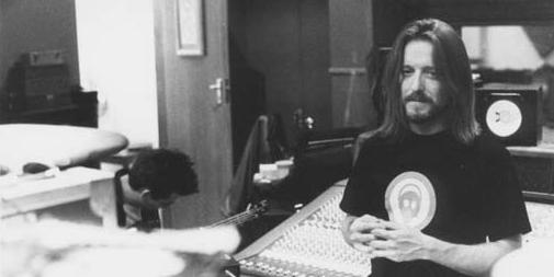 Chuck Zwicky standing in a music studio