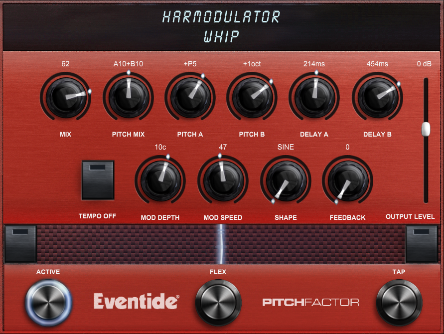 Harmodulator Screen Shot - Whip Preset