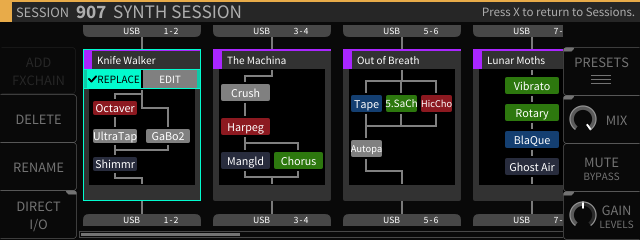 H9000 Screenshot of FX Chains