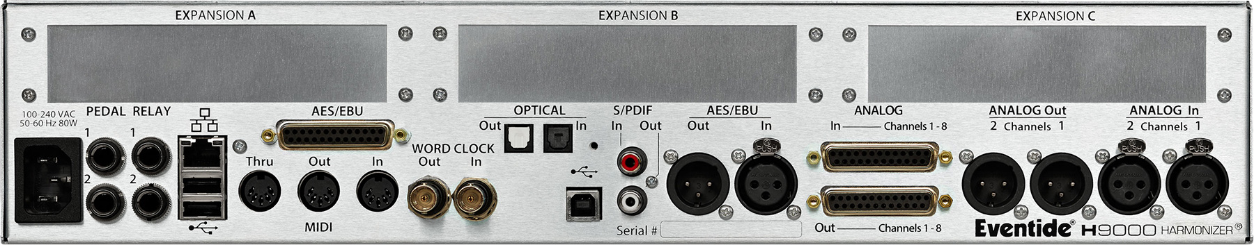 Eventide H9000 Rear panel image