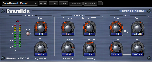 2016 Stereo Room Reverb Plug-in