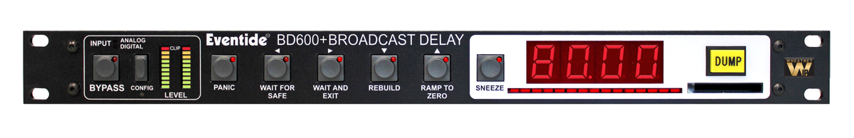 eventide bd600w+ broadcast profanity delay front panel - wheatnet IP