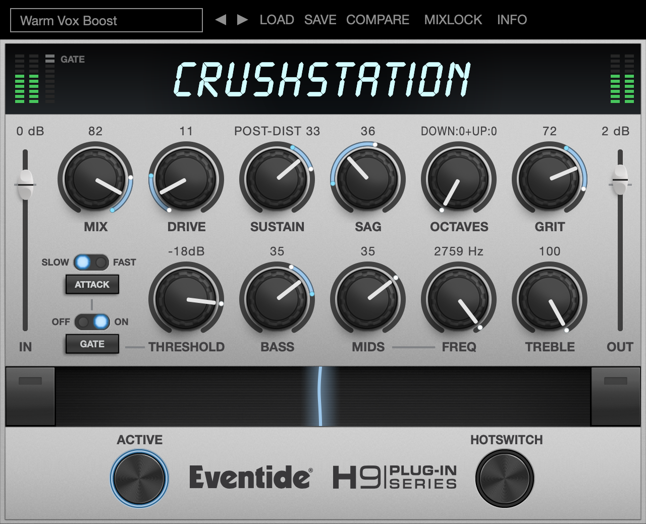 CrushStation - vst plugin - aax audio units distortion overdrive effect