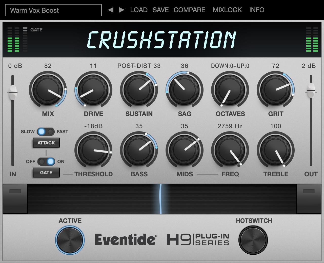 CrushStation - vst plugin - aax audio units distortion overdrive effect