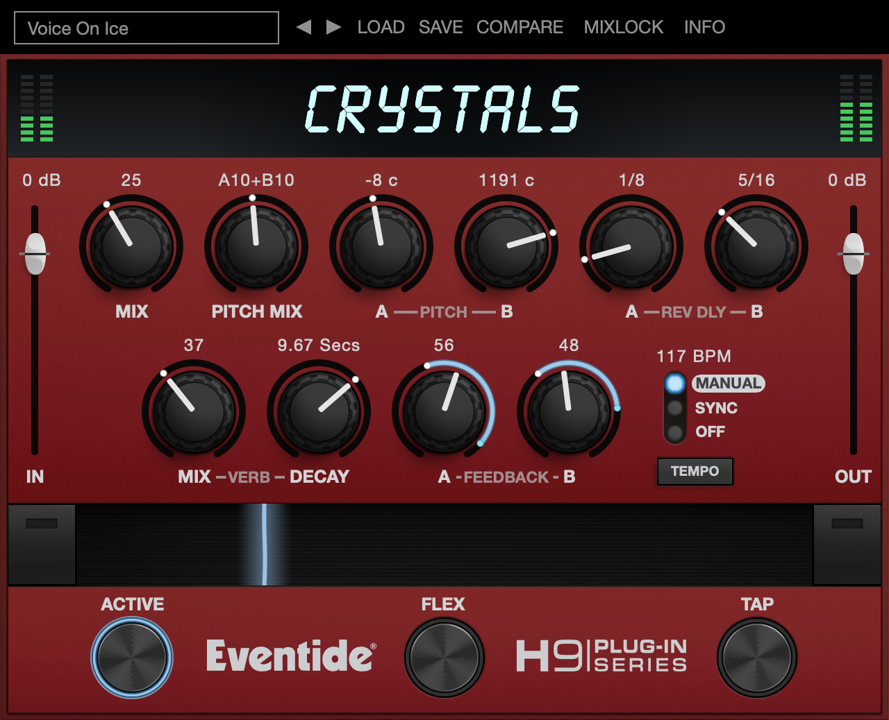 Crystals Pitch Delay Reverb Plugin H3000 VST AAX Audio Units AUv3
