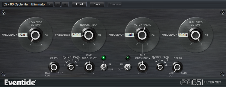 EQ65 Eventide Plug-in Parametric EQ
