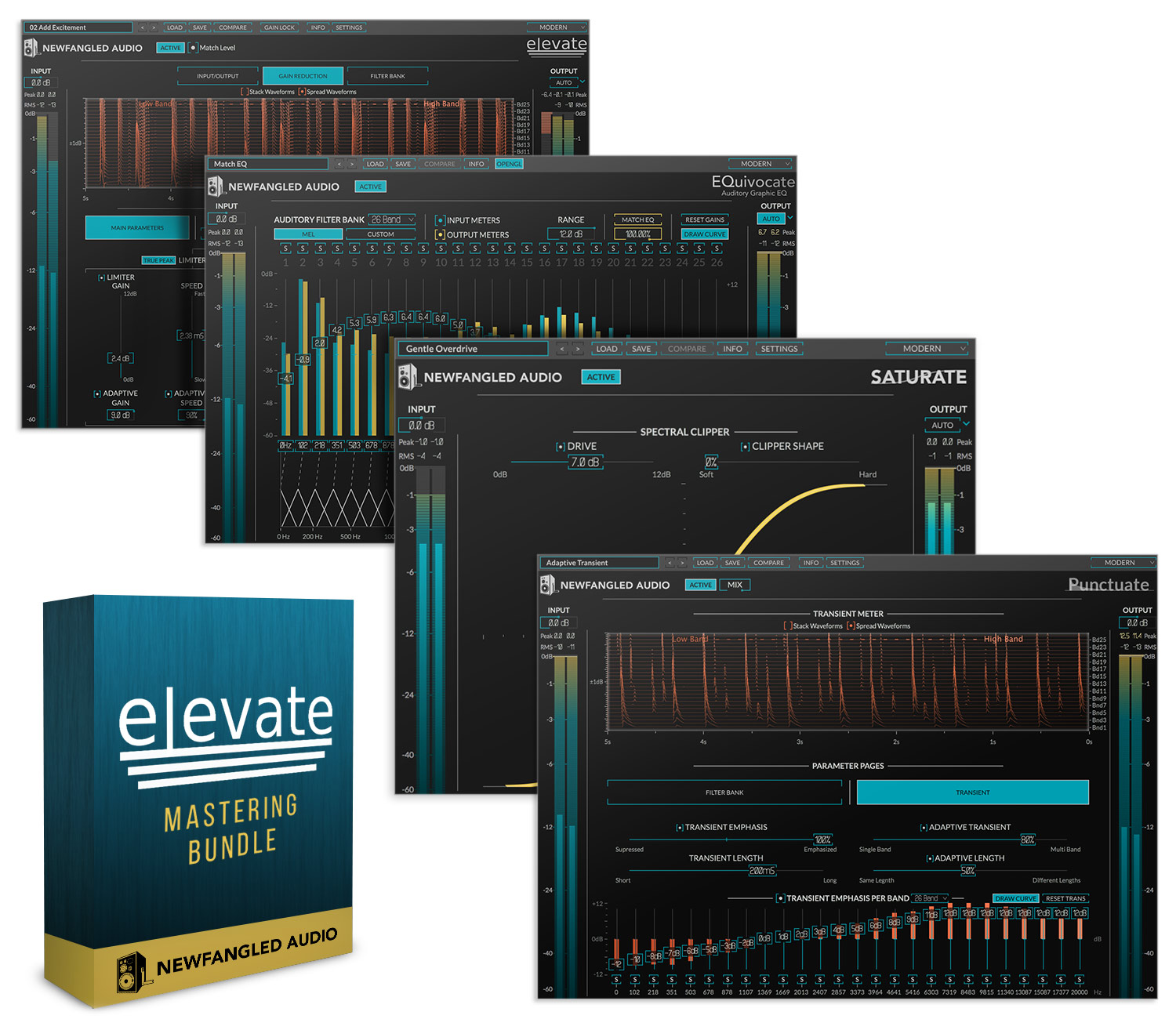 Elevate Mastering Bundle: Includes EQuivocate, Punctuate and Saturate