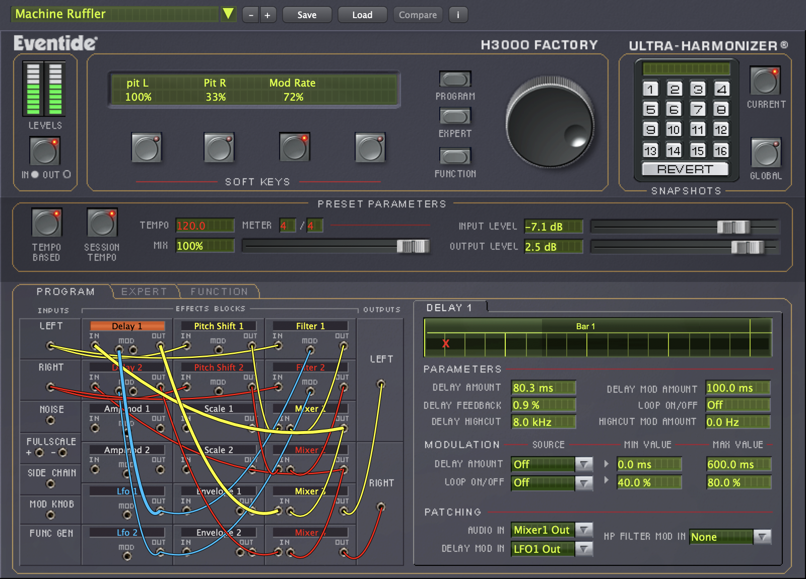 H3000 Factory plug-in GUI