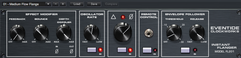 FL 201 Instant Flanger plug-in screen shot