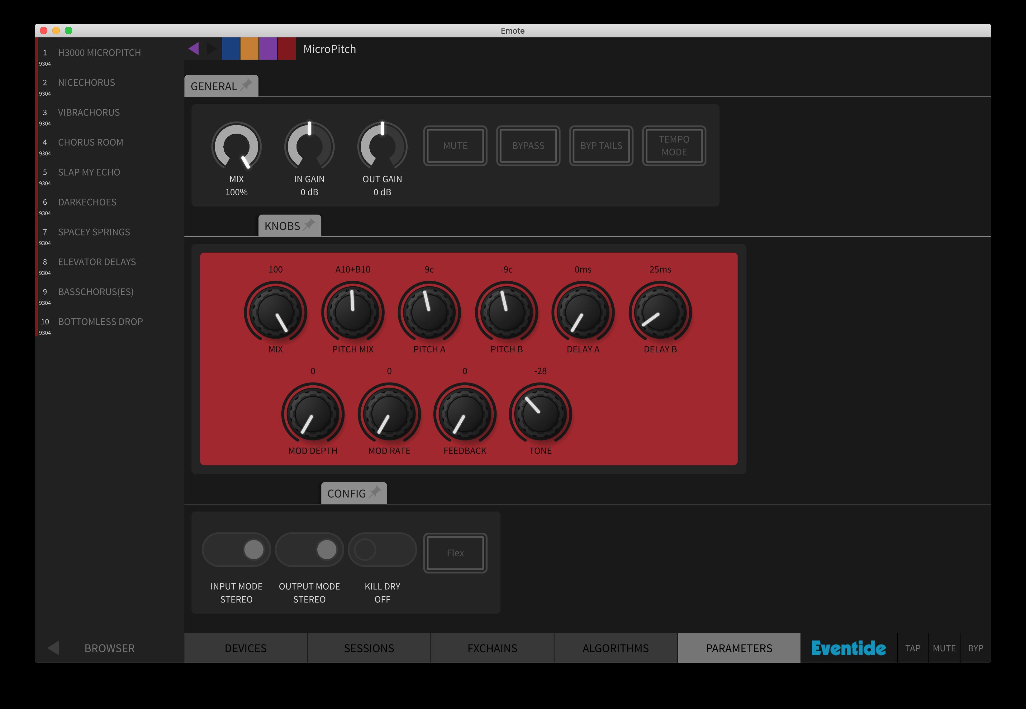 Eventide H9000 Emote Software