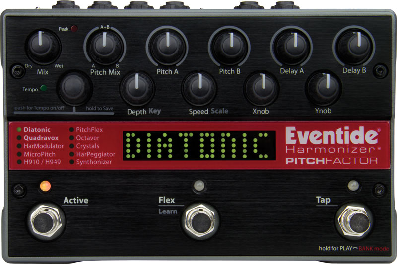 PitchFactor | Eventide Pitch Shift + Delay Harmonizer Effects Pedal