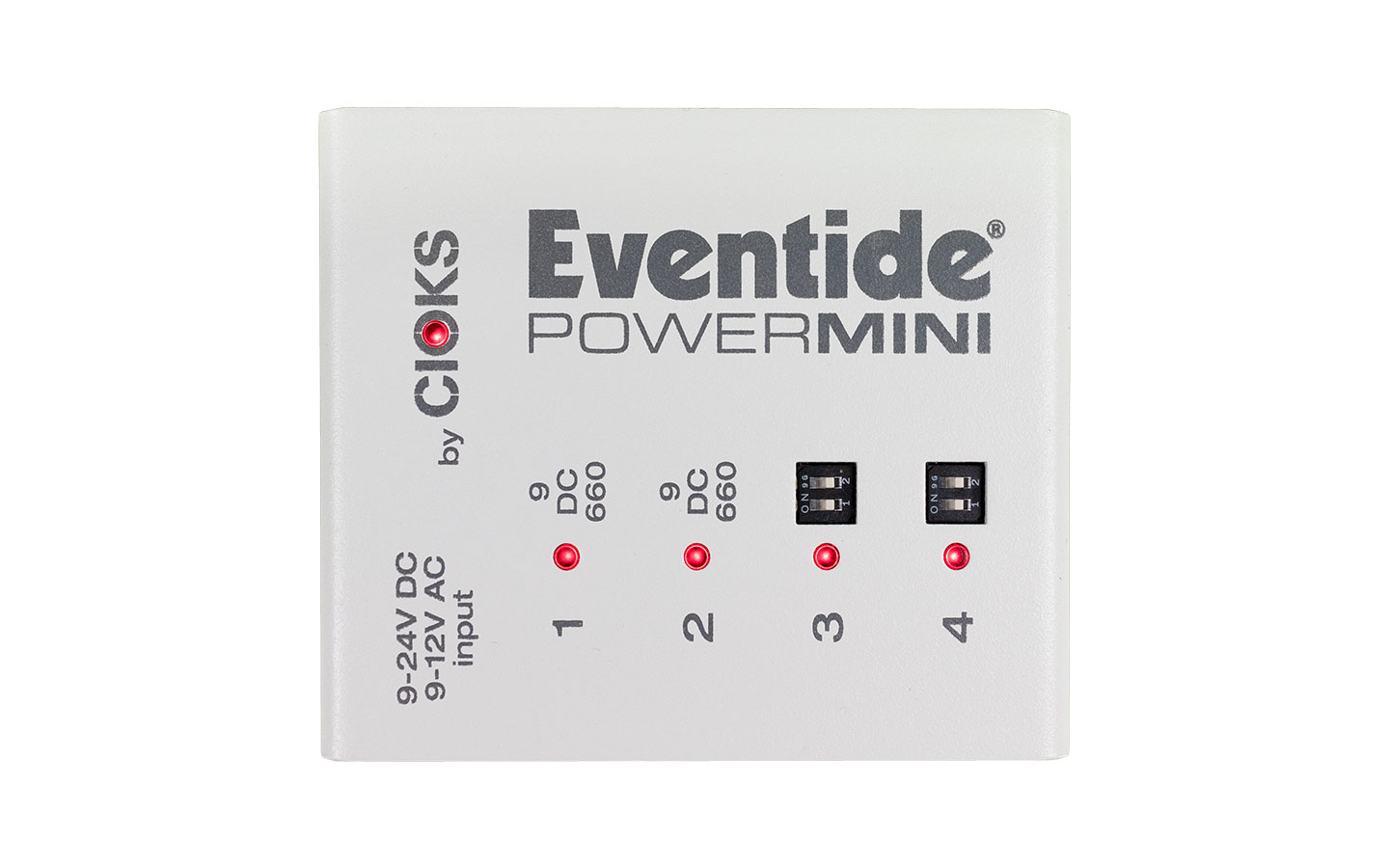 Eventide PowerMini Top Perspective Pedalboard power supply