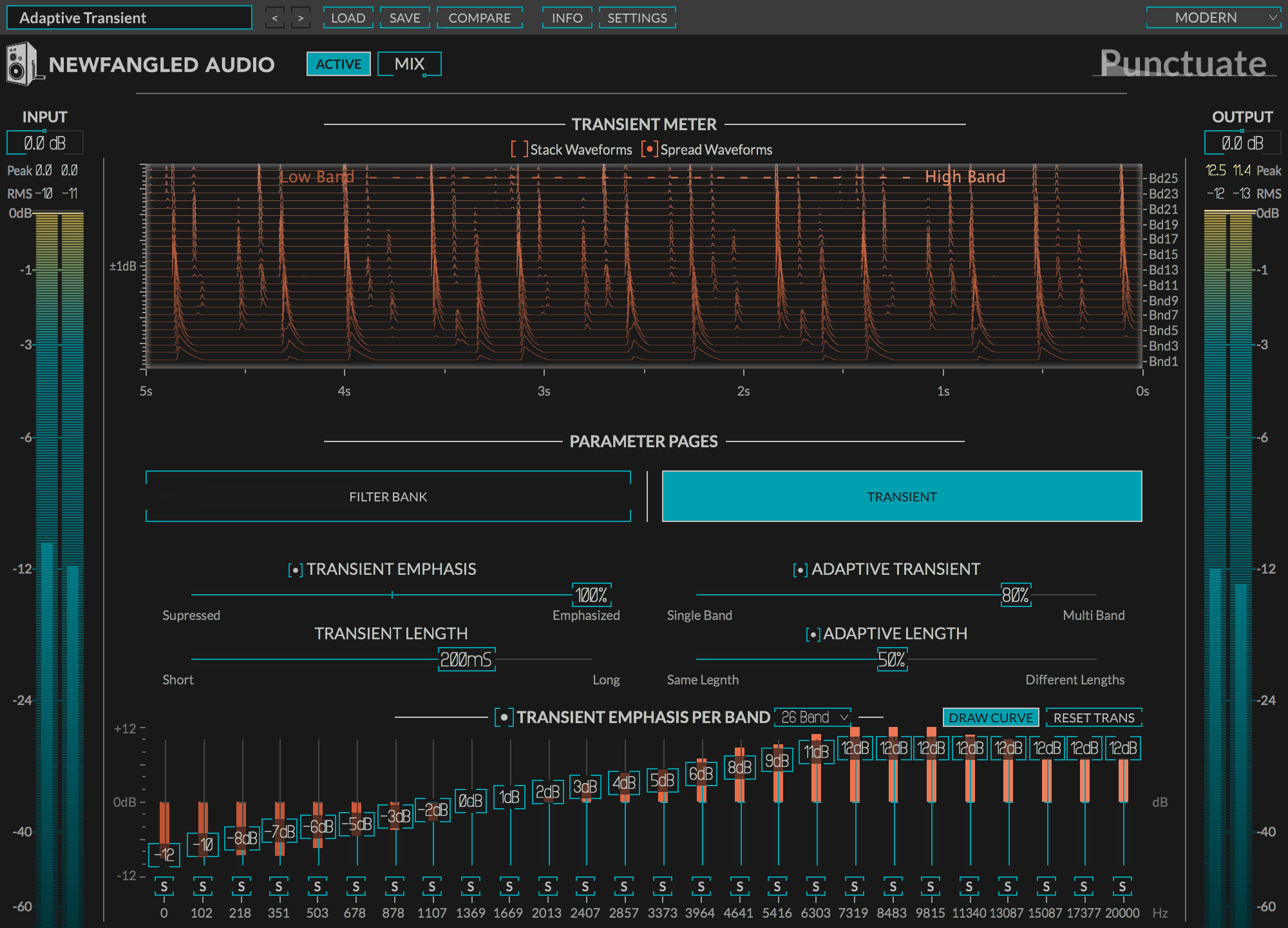 punctuate multi band transient design audio plugin