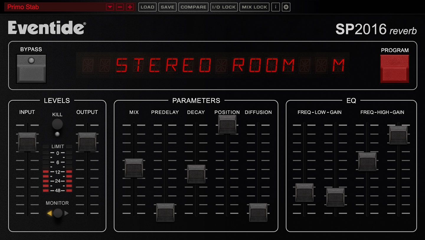 SP2016 Reverb Plug-in Screenshot