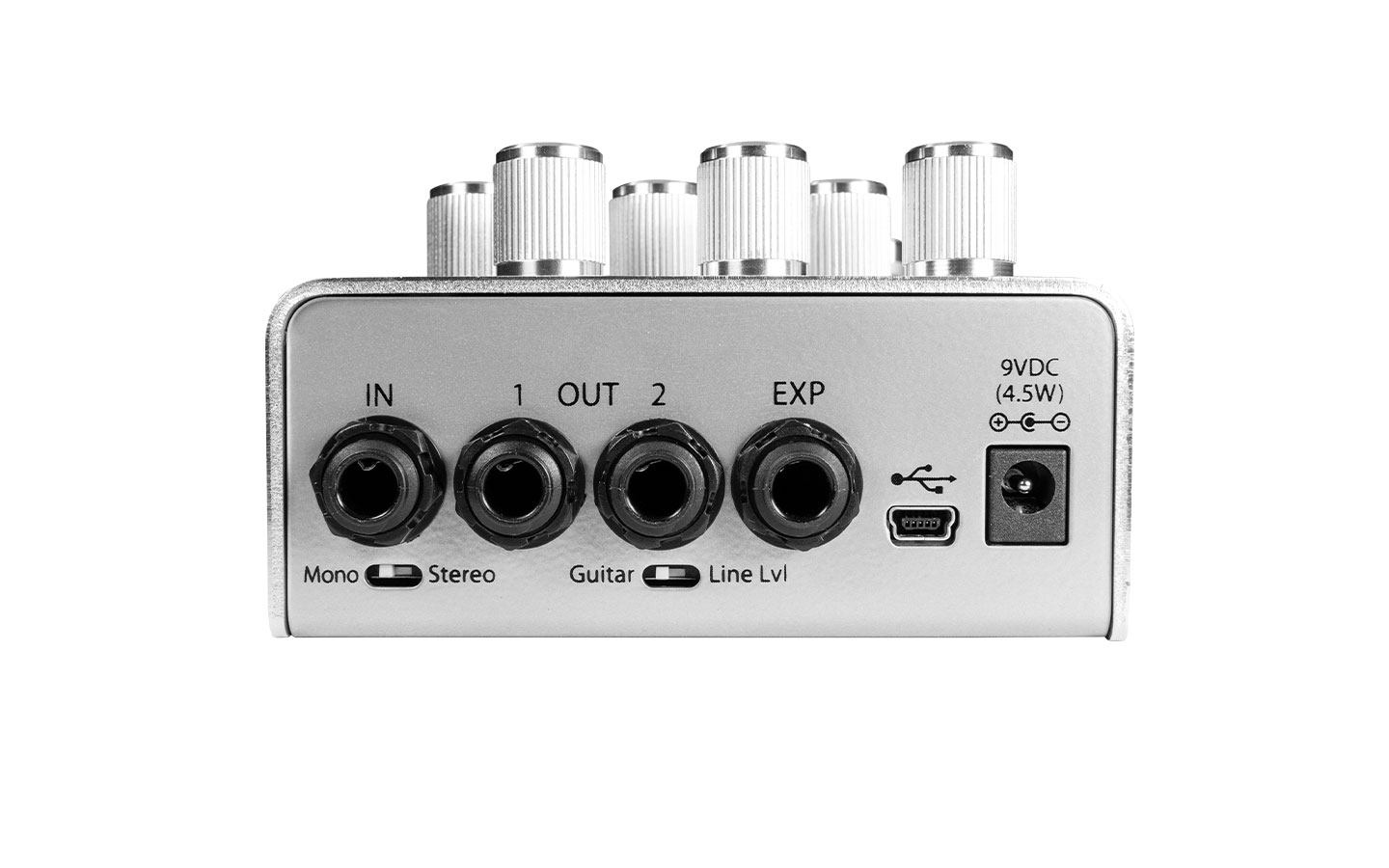 Eventide UltraTap Tap Delay Pedal Back Panel Stereo MIDI