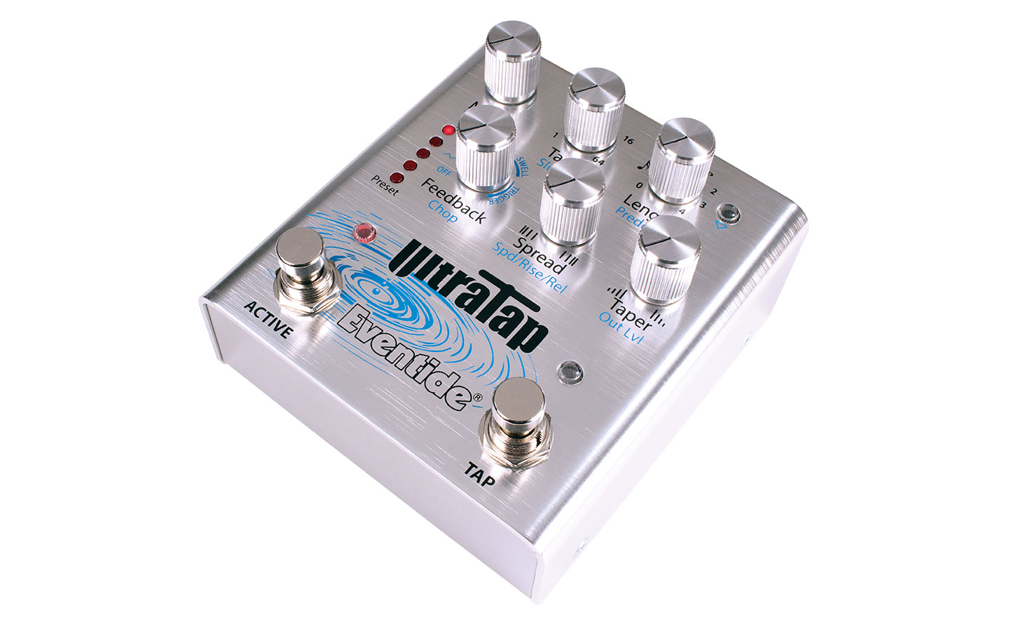 Eventide UltraTap Tap Delay Pedal Side Panel
