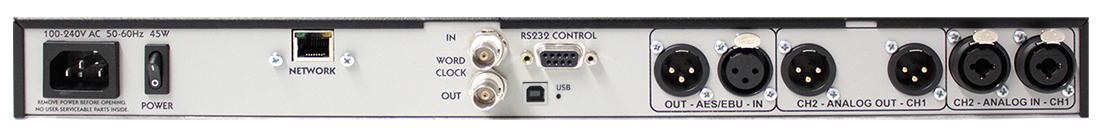 eventide bd600w+ broadcast profanity delay rear panel - wheatnet IP