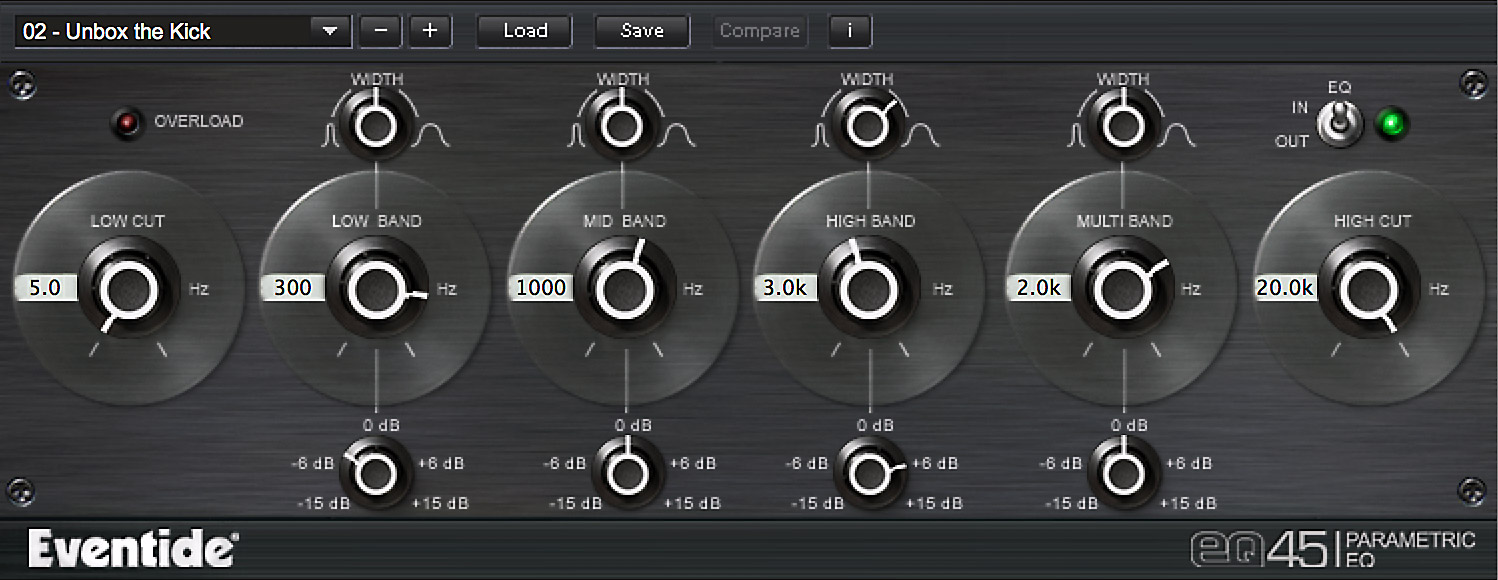 EQ 45 Plug-in screen shot