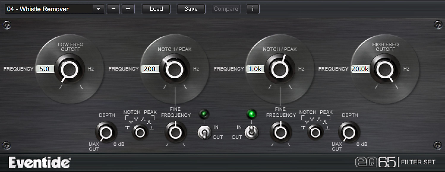 EQ 65 Plug-in screen shot