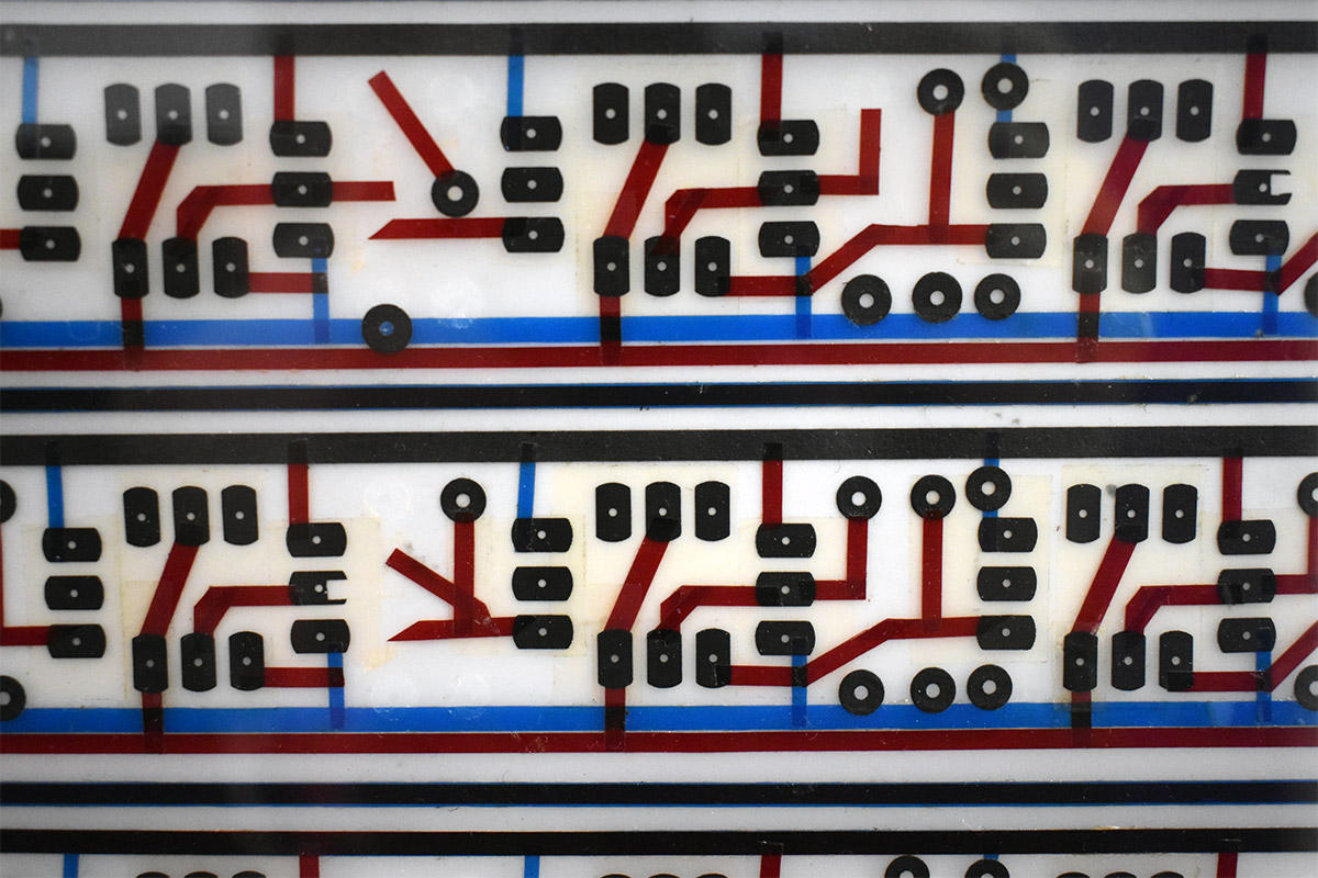 Closeup of DDL 1745 Circuit Board Artwork